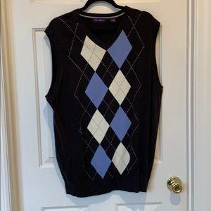 Men's light weight knit sweater vest NWOT